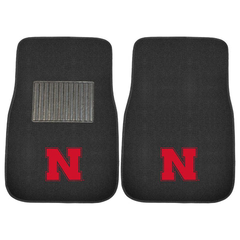Nebraska Cornhuskers NCAA 2-pc Embroidered Car Mat Set