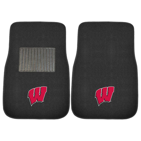Wisconsin Badgers NCAA 2-pc Embroidered Car Mat Set