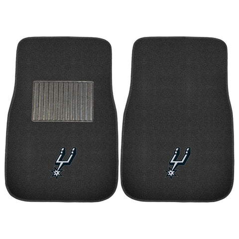 San Antonio Spurs NBA 2-pc Embroidered Car Mat Set
