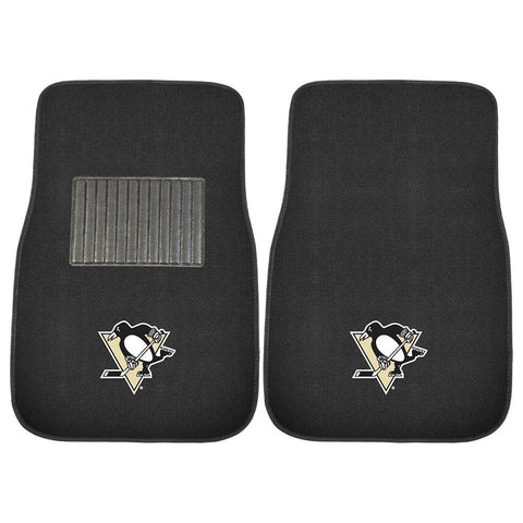 Pittsburgh Penguins NHL 2-pc Embroidered Car Mat Set
