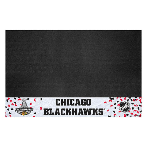Chicago Blackhawks 2015 NHL Stanley Cup Champions Vinyl Grill Mat