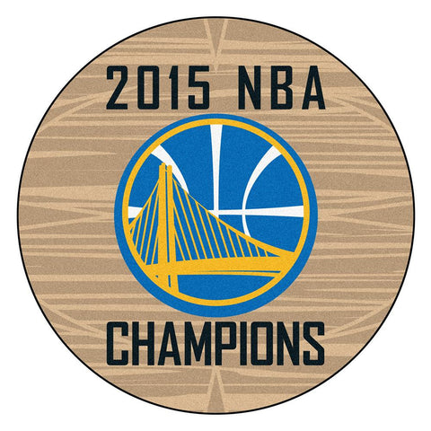 Golden State Warriors 2015 NBA Champion Basketball Round Floor Mat (29)