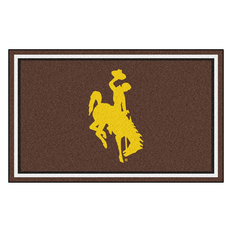 Wyoming Cowboys NCAA 4x6 Rug (46x72)