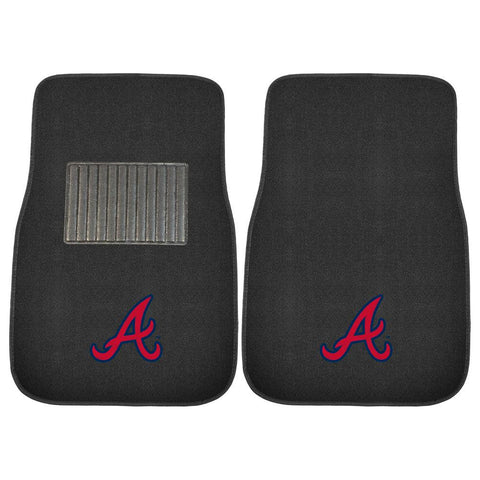Atlanta Braves MLB 2-pc Embroidered Car Mat Set