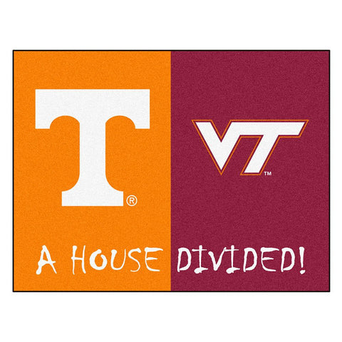 Tennessee - Virginia Tech NCAA House Divided NFL All-Star Floor Mat (34x45)
