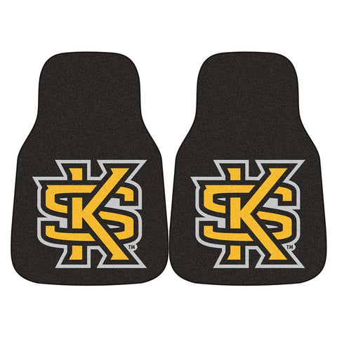Kennesaw State Owls NCAA 2-Piece Printed Carpet Car Mats (18x27)