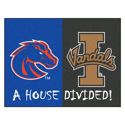 Boise State - Idaho NCAA House Divided NFL All-Star Floor Mat (34x45)