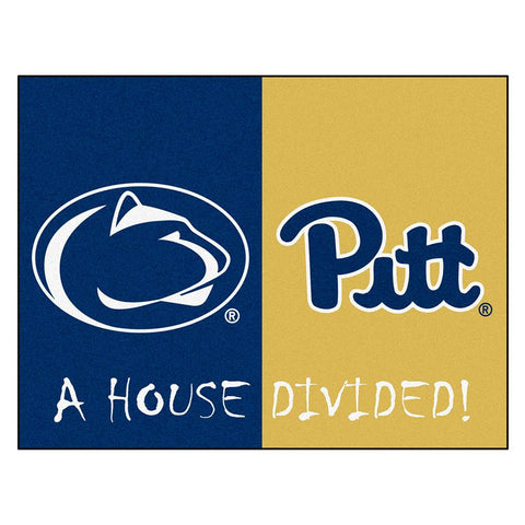 Penn State - Pittsburgh NCAA House Divided NFL All-Star Floor Mat (34x45)