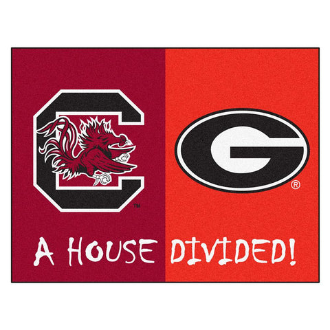 South Carolina - Georgia NCAA House Divided NFL All-Star Floor Mat (34x45)