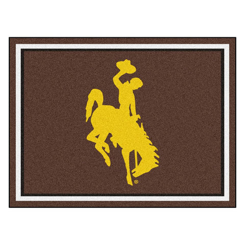 Wyoming Cowboys NCAA 8ft x10ft Area Rug