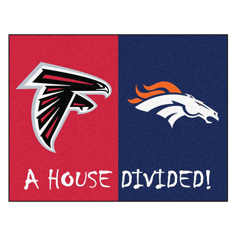 Atlanta Falcons-Denver Broncos MLB House Divided All-Star Floor Mat (34x45)