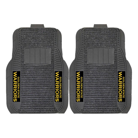 Golden State Warriors NBA Deluxe 2-Piece Vinyl Car Mats