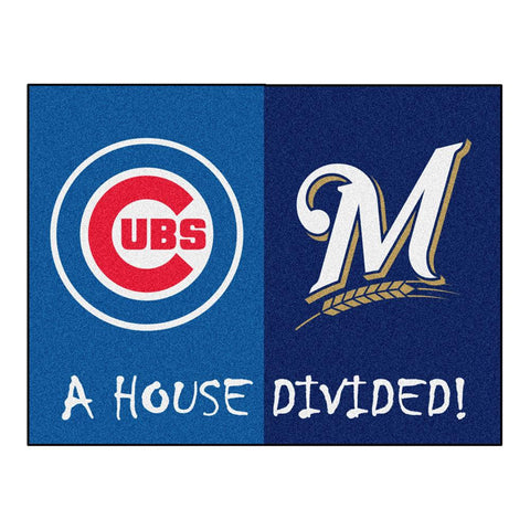 Chicago Cubs-Milwaukee Brewers MLB House Divided All-Star Floor Mat (34x45)