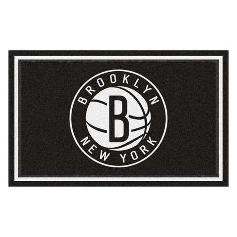 Brooklyn Nets NBA 4x6 Rug (46x72)