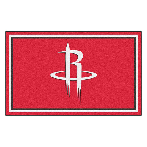 Houston Rockets NBA 4x6 Rug (46x72)