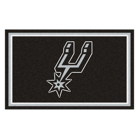 San Antonio Spurs NBA 4x6 Rug (46x72)