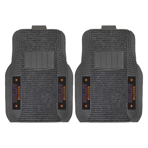 Houston Astros MLB Deluxe 2-Piece Vinyl Car Mats