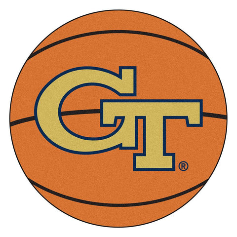 Georgia Tech Yellowjackets NCAA Basketball Round Floor Mat (29)