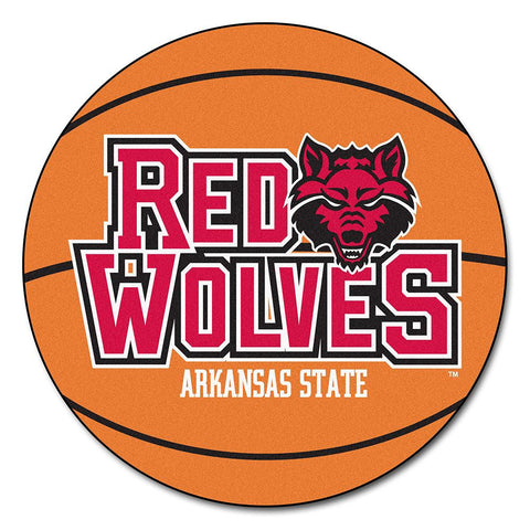 Arkansas State Red Wolves NCAA Basketball Round Floor Mat (29)
