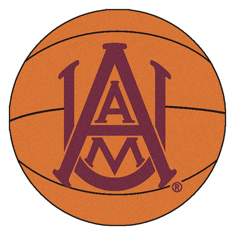 Alabama A&M Bulldogs NCAA Basketball Round Floor Mat (29)
