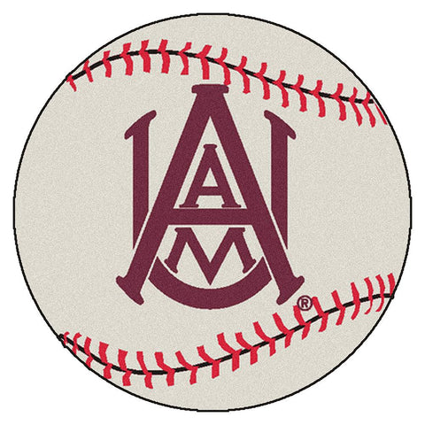 Alabama A&M Bulldogs NCAA Baseball Round Floor Mat (29)