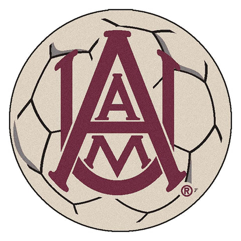Alabama A&M Bulldogs NCAA Soccer Ball Round Floor Mat (29)