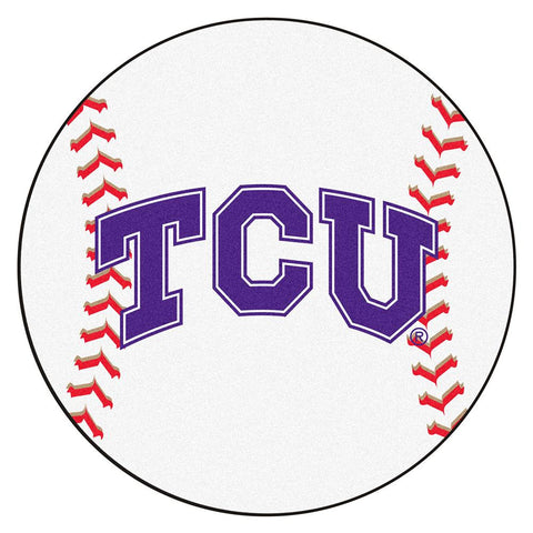 Texas Christian Horned Frogs NCAA Baseball Round Floor Mat (29)