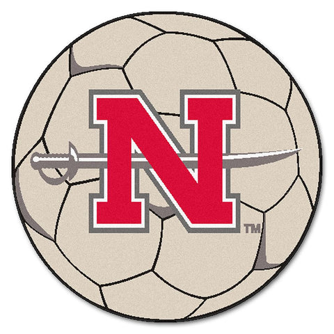 Nicholls State Colonels NCAA Soccer Ball Round Floor Mat (29)