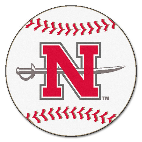 Nicholls State Colonels NCAA Baseball Round Floor Mat (29)