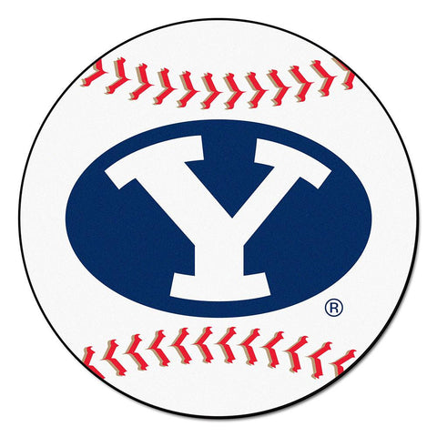 Brigham Young Cougars NCAA Baseball Round Floor Mat (29)