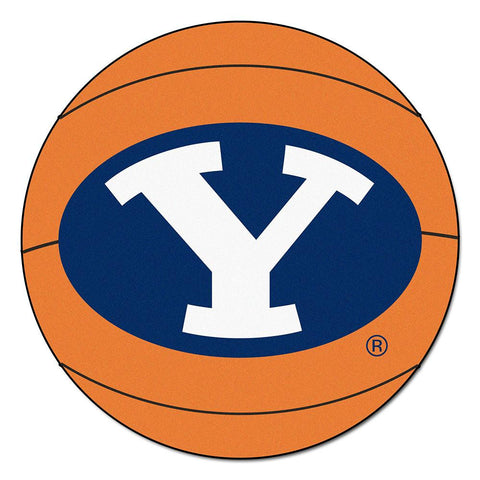 Brigham Young Cougars NCAA Basketball Round Floor Mat (29)