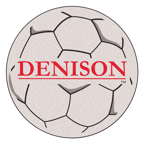 Denison Big Reds NCAA Soccer Ball Round Floor Mat (29)
