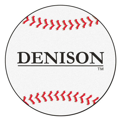 Denison Big Reds NCAA Baseball Round Floor Mat (29)