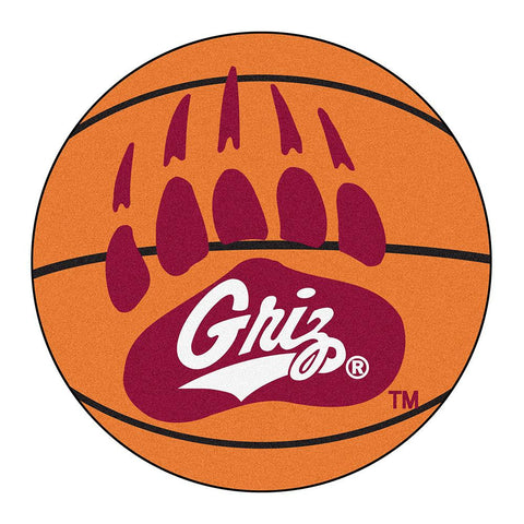 Montana Grizzlies NCAA Basketball Round Floor Mat (29)