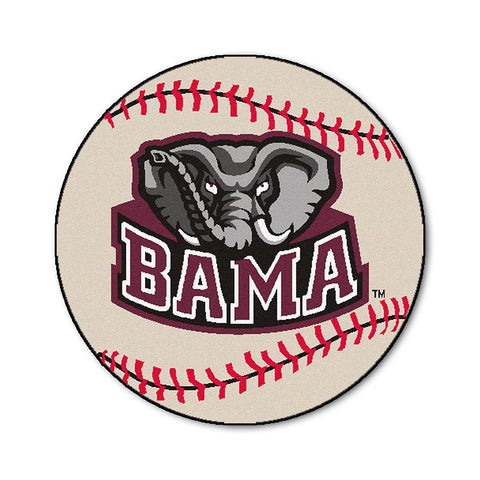 Alabama Crimson Tide NCAA Baseball Round Floor Mat (29)