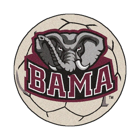 Alabama Crimson Tide NCAA Soccer Ball Round Floor Mat (29)