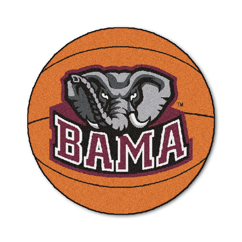 Alabama Crimson Tide NCAA Basketball Round Floor Mat (29)