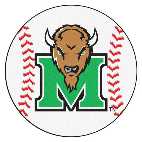 Marshall Thundering Herd NCAA Baseball Round Floor Mat (29)