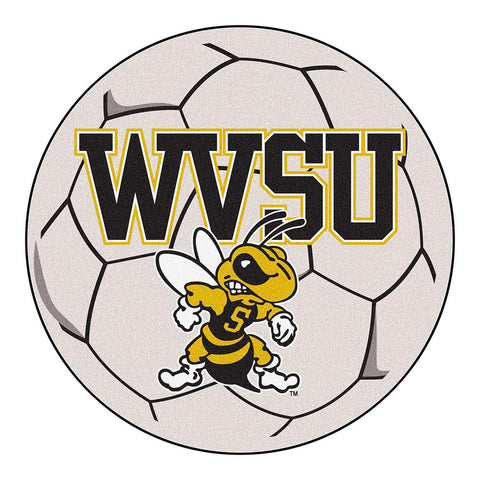 West Virginia State Yellow Jackets NCAA Soccer Ball Round Floor Mat (29)