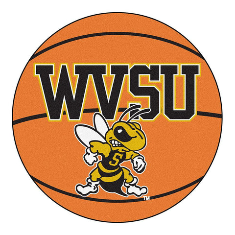 West Virginia State Yellow Jackets NCAA Basketball Round Floor Mat (29)