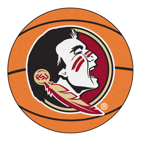 Florida State Seminoles NCAA Basketball Round Floor Mat (29) Seminole Logo