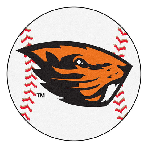 Oregon State Beavers NCAA Baseball Round Floor Mat (29)