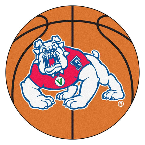 Fresno State Bulldogs NCAA Basketball Round Floor Mat (29)