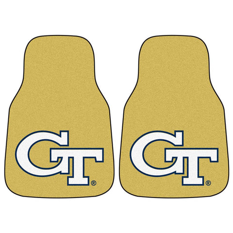 Georgia Tech Yellowjackets NCAA Car Floor Mats (2 Front) Yellow