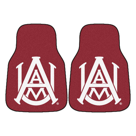 Alabama A&M Bulldogs NCAA 2-Piece Printed Carpet Car Mats (18x27)