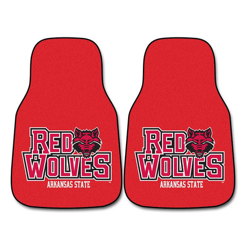 Arkansas State Red Wolves NCAA Car Floor Mats (2 Front)