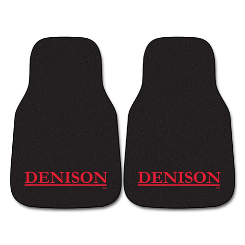 Denison Big Reds NCAA Car Floor Mats (2 Front)
