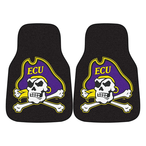 East Carolina Pirates NCAA Car Floor Mats (2 Front)