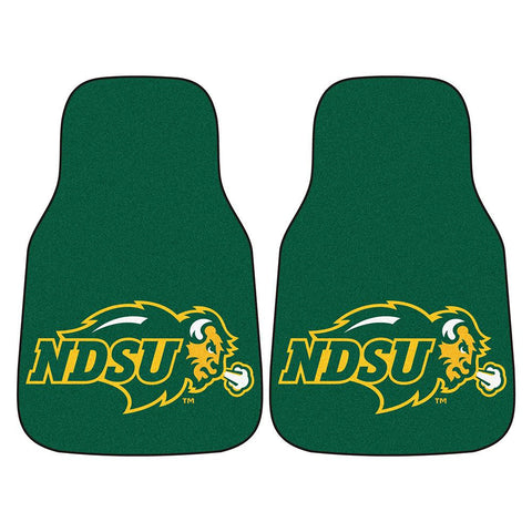 North Dakota State Bison NCAA 2-Piece Printed Carpet Car Mats (18x27)