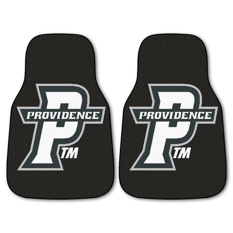 Providence Friars NCAA 2-Piece Printed Carpet Car Mats (18x27)